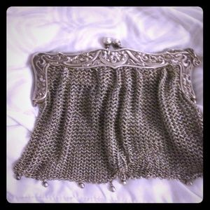 German silver chainmail clutch